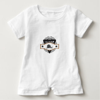 triangle snail badge baby romper