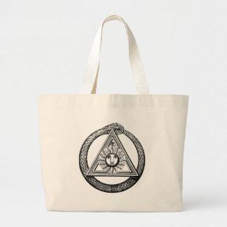 Triangle Snake Mason Canvas Bag