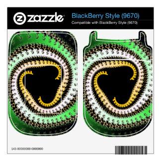 Triangle Spirals Fractal Design BlackBerry Style Skins