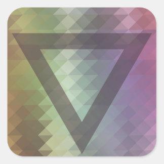 Triangle Square Sticker
