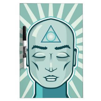 Triangle symbol Ancient vector face Dry-Erase Board