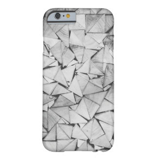 Triangle Texture Black and White Barely There iPhone 6 Case