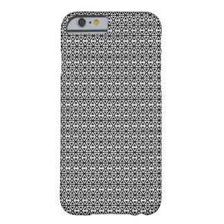 Triangle tiles black and white barely there iPhone 6 case