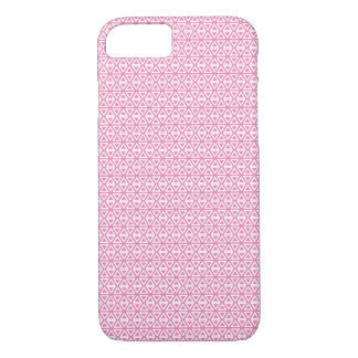 Triangle tiles pink iPhone 8/7 case