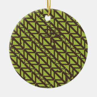 Triangle Tire Track pattern Ceramic Ornament