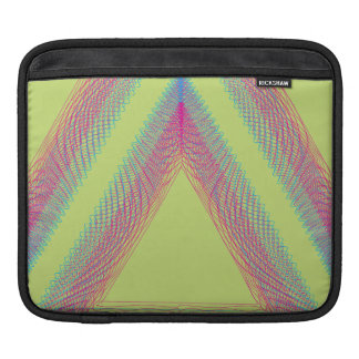 Triangle Wavy Guilloche green Sleeves For iPads