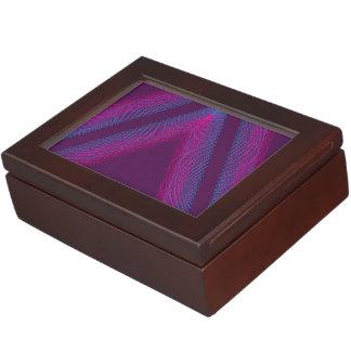 Triangle Wavy Guilloche magenta Memory Box