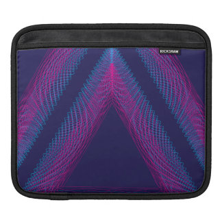 Triangle Wavy Guilloche purple Sleeve For iPads