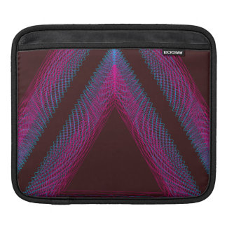 Triangle Wavy Guilloche red iPad Sleeves