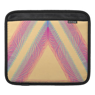 Triangle Wavy Guilloche yellow Sleeves For iPads