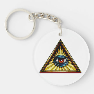 Triangle with eye Eye of Providence Keychain
