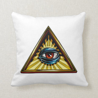 Triangle with eye Eye of Providence Pillow