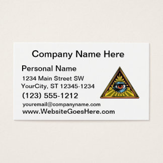 Triangle yellow with eye Eye of Providence Business Card