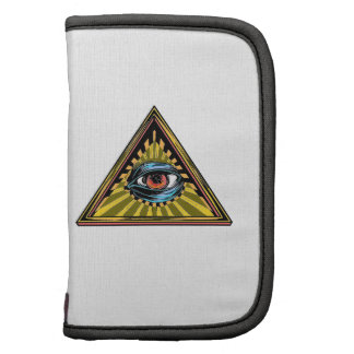 Triangle yellow with eye Eye of Providence Folio Planners