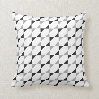Triangles #1 | Black Gray Pattern Design Throw Pillow