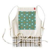 Triangles and other shapes pattern zazzle HEART apron