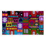 triangles and squares with circles mosaic Double-Sided standard business cards (Pack of 100)