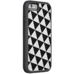 TRIANGLES (BLACK AND WHITE PATTERN) iPhone 6 Case