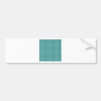Triangles - Celeste and Deep Jungle Green Car Bumper Sticker