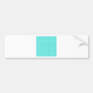 Triangles - Celeste and Turquoise Car Bumper Sticker