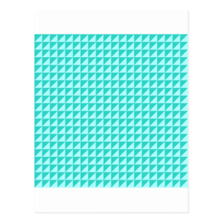 Triangles - Celeste and Turquoise Postcard
