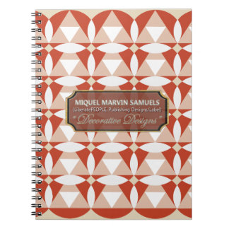 Triangles Circles Blossoms Cream White Notebook