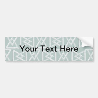 Triangles geometrical pattern bumper sticker