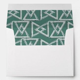 Triangles geometrical pattern envelopes