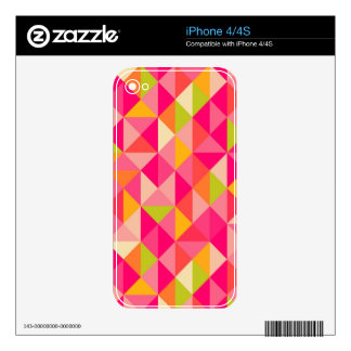 Triangles geometrical pattern skin for iPhone 4S
