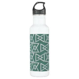 Triangles geometrical pattern water bottle