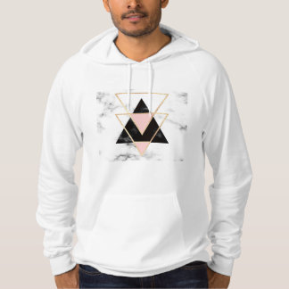 Triangles,gold,black,pink,marbles,collage,modern,t Hoodie