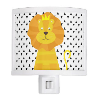 Triangles Gold Lion Night Light