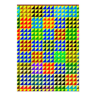 TRIANGLES HALF SQUARES COLORFUL PATTERN BACKGROUND CARD