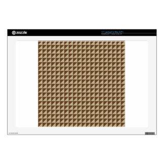 Triangles - Khaki and Dark Brown Laptop Skins