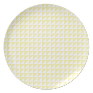Triangles - Light Yellow and Corn Plate
