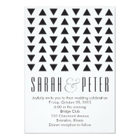 Triangles Modern Wedding Invitation