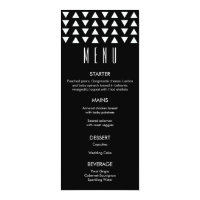 Triangles Modern Wedding Menu Card