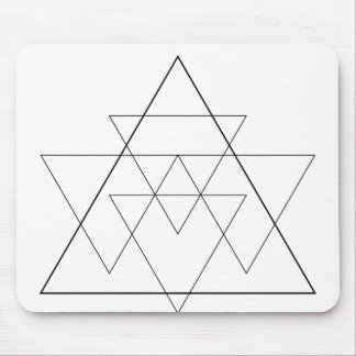 triangles mouse pad