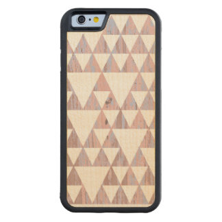 Triangles of colors carved® maple iPhone 6 bumper case
