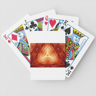 Triangles of fire bicycle playing cards