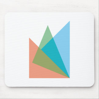 Triangles of triangles mouse pad