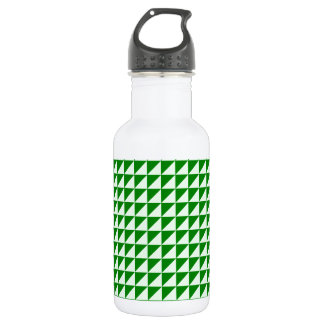 Triangles - Offwhitegreen and Green Water Bottle