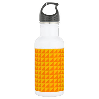 Triangles - Orange and Amber Water Bottle