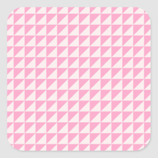 Triangles - Pale Pink and Carnation Pink Square Sticker