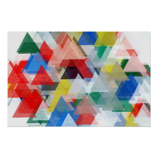 triangles pattern illustration abstract poster