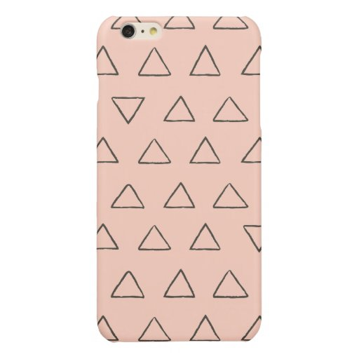 Triangles pattern glossy iPhone 6 plus case