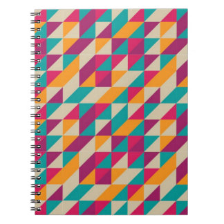 TRIANGLES PATTERN SPIRAL NOTE BOOKS