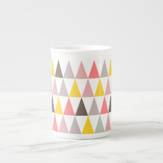 triangles pattern tea cup