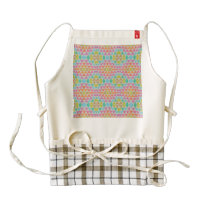 Triangles pattern zazzle HEART apron
