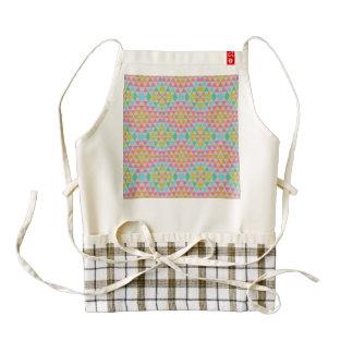 Triangles pattern zazzle HEART apron